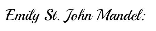 Emily St John Mandel name
